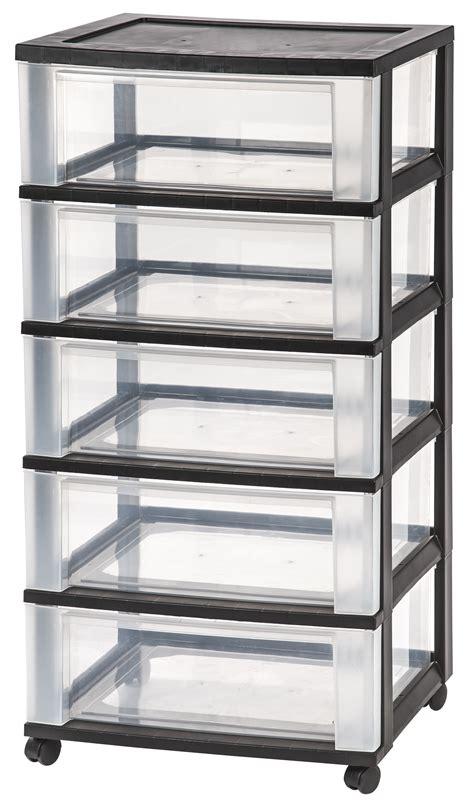 5 drawer organizer cart iris 5 drawer wide storage cart black