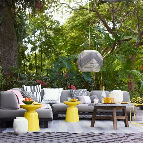 west elm tillary outdoor sofa bright backyard decor