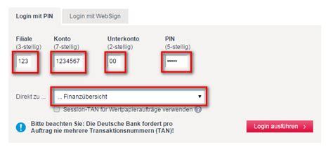 deutsche bank banking privat login db direct deutsche bank musterdepot er 246 ffnen