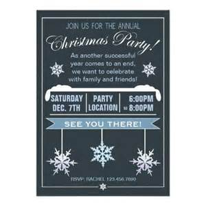 modern snowflake annual christmas party invitation