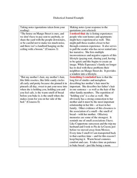 dialectical journal template cyberuse