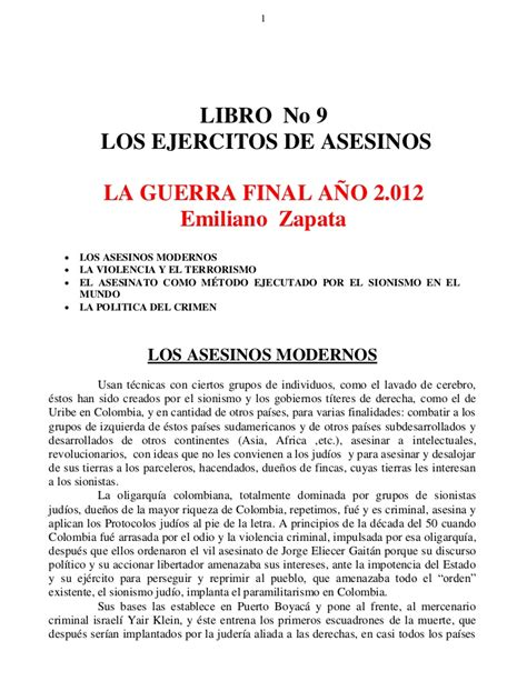 libro why there is no libro no 09 los ejercitos de asesinos la guerra final a 241 o 2