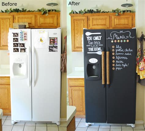 chalkboard painting refrigerator i so want to do this to my fridge not sure about the