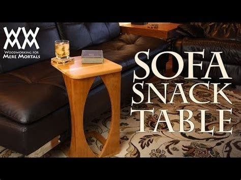 sofa snack table plans make a sofa snack table for your living room