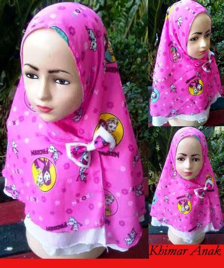 Kerudung Anak Frozen Grosir Jilbab Khimar Anak Frozen My