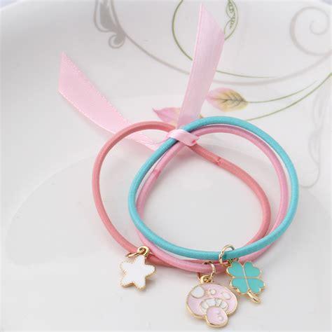 bow hair band 1pack 3pcs color ribbon bow elastic hair band