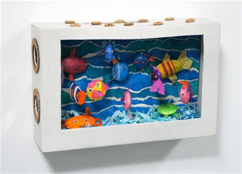 aquarium diy projects mollymoocrafts diy cardboard aquarium craft mollymoocrafts