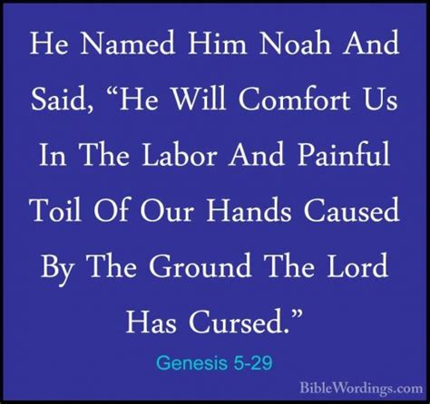comfort in labor genesis 5 29 he named him noah and said quot he will