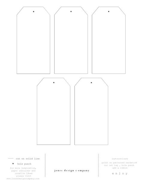 tags template diy gift tags free template and printable paper editor