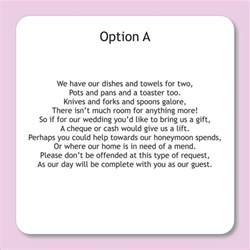poems to put in wedding invites asking for money wording for wedding invitations asking for money