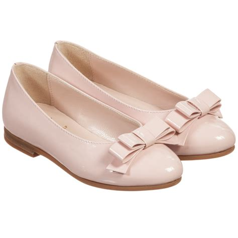 pink leather shoes il gufo pink patent leather bow shoes childrensalon