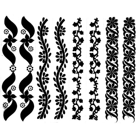 henna tattoo and water henna look water transfer tattoos arm band design instant