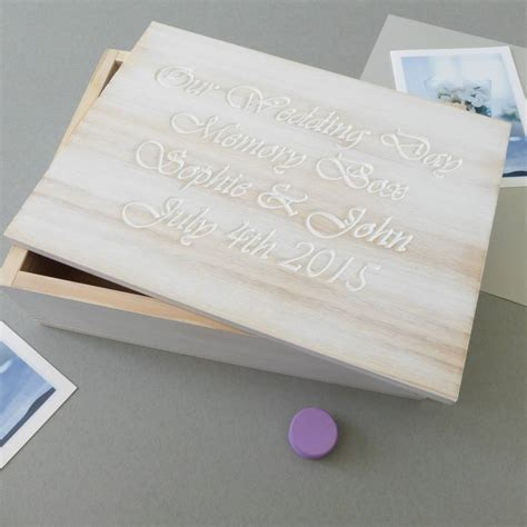 Wedding Keepsake Box Not On The High by Personalised White Wooden Wedding Keepsake Box By