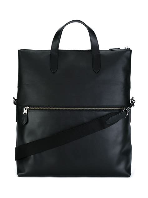 Tas Ck Tote Top Handle Original coach top handle tote bag in black for lyst