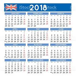 Calendar For 2018 Uk 2018 Squared Calendar Uk Week Starts On Monday
