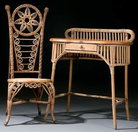 antique wicker desk and chair 17 best images about antique chairs on pinterest
