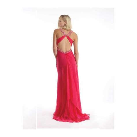 Dress Alila 1 morrell maxie coral cut out back chiffon gown alila