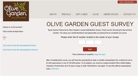 Olive Garden Corporate Office Phone Number by Www Olivegardensurvey Olive Garden Guest