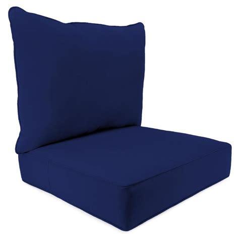 shop jordan manufacturing fresco navy deep seat patio chair cushion  lowescom