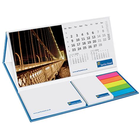 sticky note desk calendar calendar pod with sticky notes uk corporate gifts