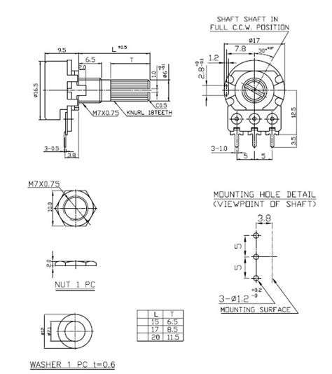 b10k potentiometer diagram diagram elsavadorla