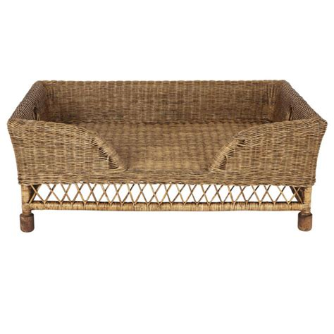 wicker dog bed rattan mattaban pet bed large oka