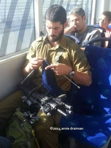 knitting continental style idf soldier knitting continental style sticks and a gun