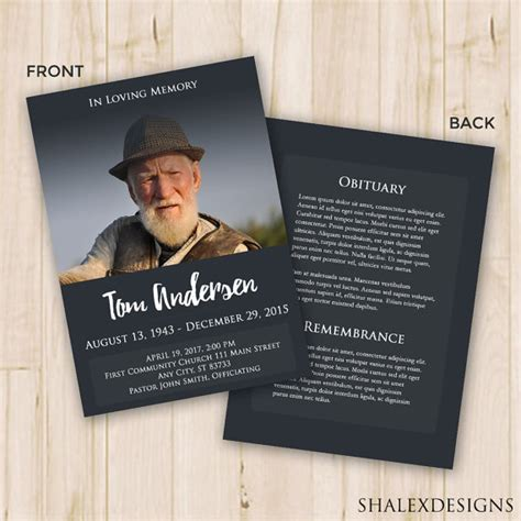 memorial card template photoshop free our favorite actually free funeral program templates