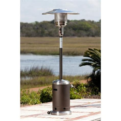 Fire Sense 61185 Commercial Patio Heater Mocha Stainless Commercial Grade Patio Heater