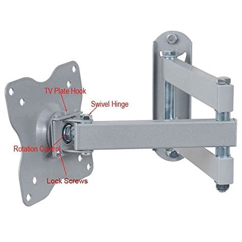 tv swing arm videosecu articulating swing arm lcd led tv wall mount