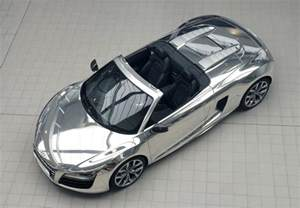 Chrome Audi Chrome Audi R8 Spyder Auctioned For Elton Aids