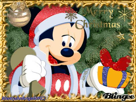 merry christmas mickey mouse picture  blingeecom