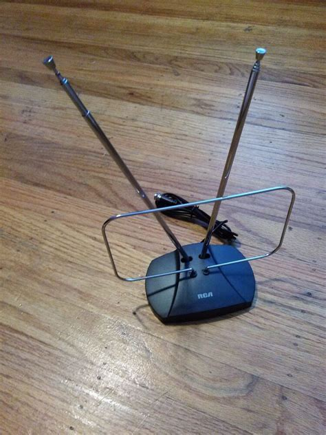 new rca indoor hdtv antenna w built in coaxial cable ant111 uhf vhf ebay