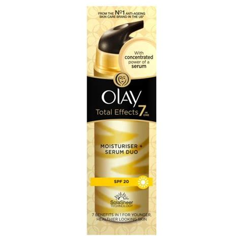 Serum Olay Total Effect olay total effects moisturizer serum duo with broad spectrum spf 20 reviews photo ingredients