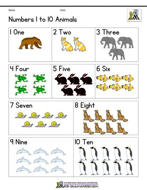 printable animal numbers wonderful a complete set of free printable worksheets for