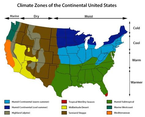 united states climate map climate information for united states climate zone autos
