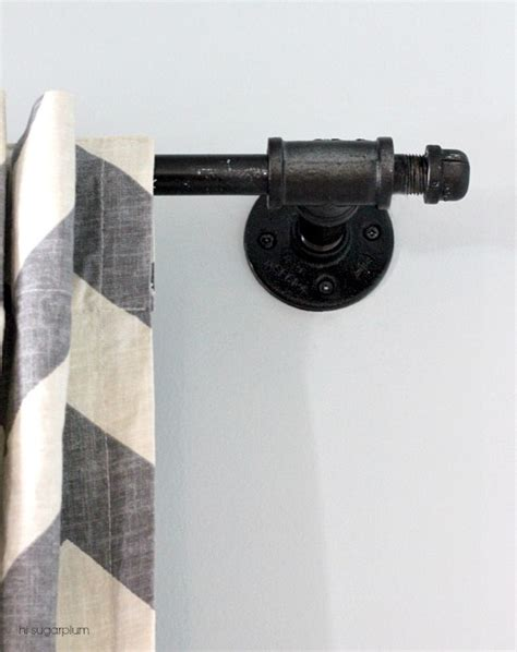 hi sugarplum how to diy a curtain rod with galvanized