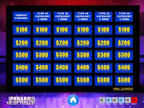 Jeopardy Powerpoint Game Template Youth Downloadsyouth Jeopardy Templates With Sound