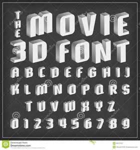 retro type font vintage typography with movie style stock