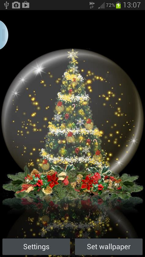 download cheismas live wallpaper for jpeg snow globe tree live wallpaper