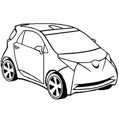 coloring pages crashed cars toyota iq concept car disegni da colorare di mezzi di
