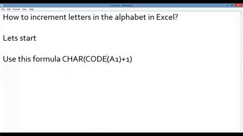 how to make excel increment numbers how to increment
