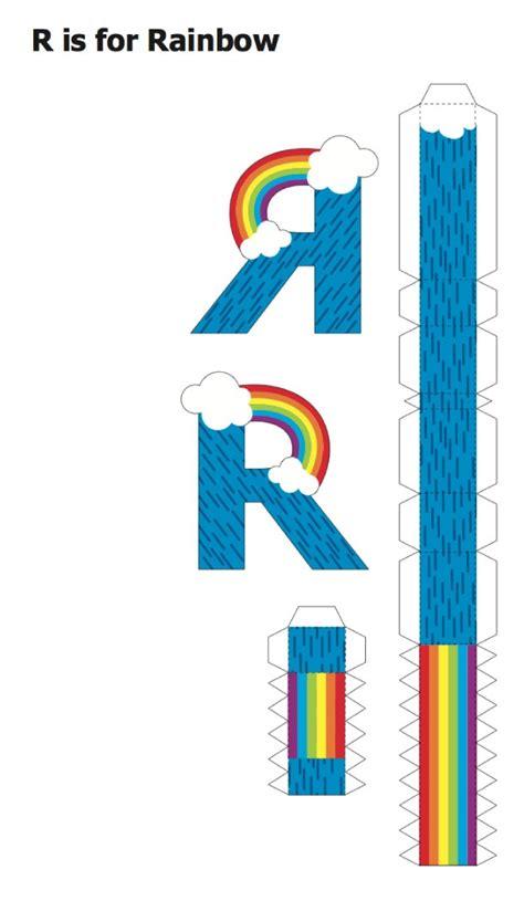 Papercraft Alphabet - fabriquer l alphabet en volume agencema