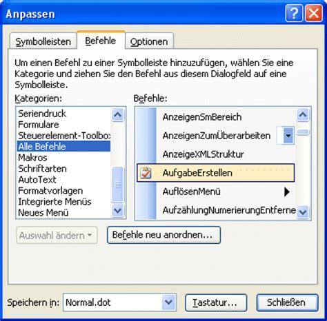 Word Vorlage In Outlook Einbinden outlook aufgaben in word anlegen computerwissen de
