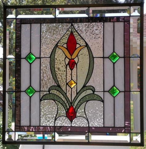 stained glass hanging l stained glass window hanging 21 x 21 quot ebay
