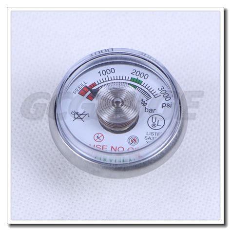 Manometer 3000 Psi spiral 1 5 inch 3000 psi miniature pressure gauges for extinguisher wholesale