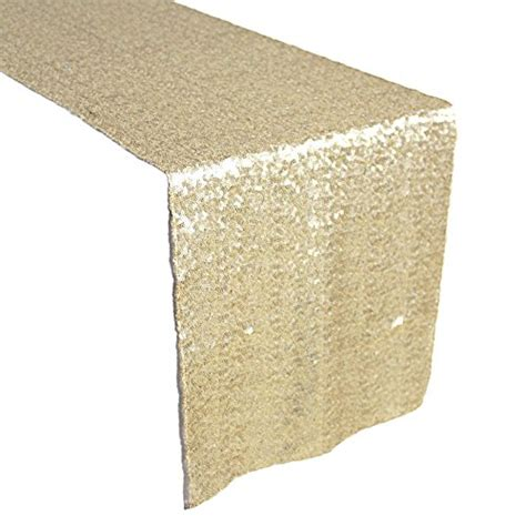 gold sequin table runner amazlinen tm premium quality chagne gold glitz sequin