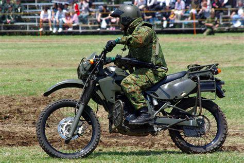 Pelindung Mesin Crf 150 jgsdf reconnaissance bicycle kawasaki klx250 20120429 03