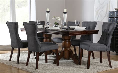 slate dining room table chatsworth dark wood extending dining table and 6 chairs