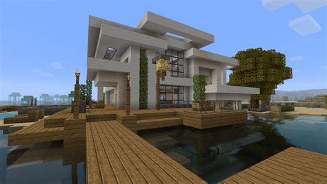 Blueprints Of A House by Modern House 5 Beach Town Project Minecraft Project
